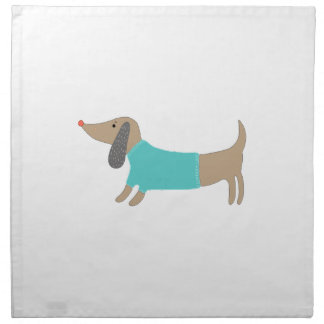 Cute hand drawn doggie napkin