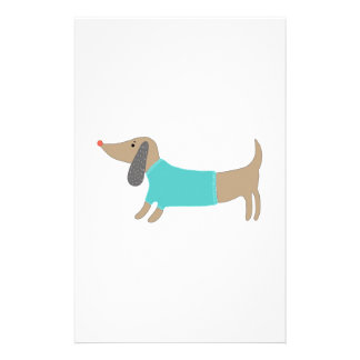 Cute hand drawn doggie stationery