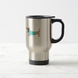 Cute hand drawn doggie travel mug