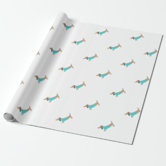 Cute hand drawn doggie wrapping paper