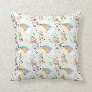 Cute Hand Drawn Unicorn Pattern Cushion