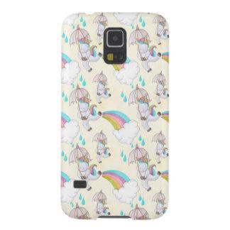 Cute Hand Drawn Unicorn Pattern Galaxy S5 Cover
