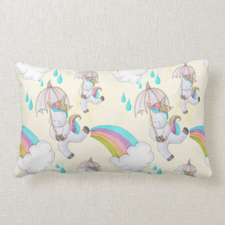 Cute Hand Drawn Unicorn Pattern Lumbar Cushion