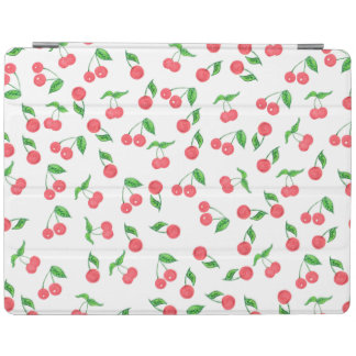 cute hand drawn watercolor cherry pattern iPad cover