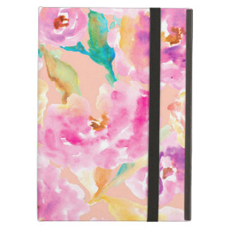 Cute Hand Painted Watercolor Flowers Cover For iPad Air