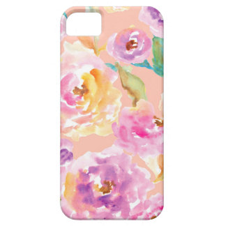 Cute Hand Painted Watercolor Flowers iPhone 5 Cases