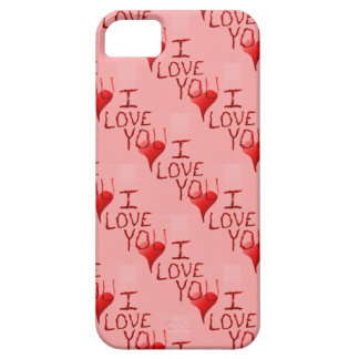 Cute Handdrawn I Love You Heart Valentine's Day iPhone 5 Cover