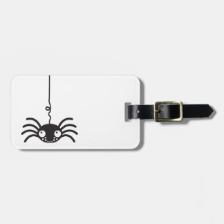 cute hanging spider with little eyes luggage tag