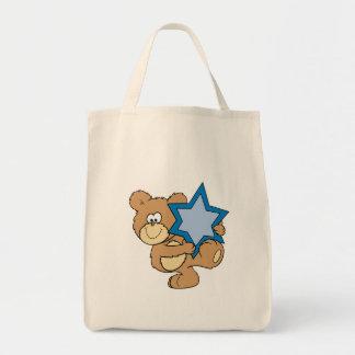 cute hanukkah teddy bear holding star of david
