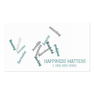 Cute Happiness Matters Love and Support Pack Of Standard Business Cards