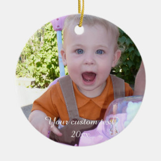 Cute happy baby - create your own round ceramic decoration
