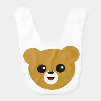 Cute Happy Bear Face Bib