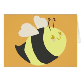 Cute Happy Bee Greeting Card