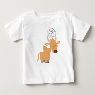 Cute Happy Brahman Cow Baby T-Shirt