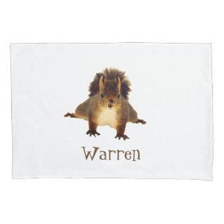 Cute happy brown squirrel add name pillowcase