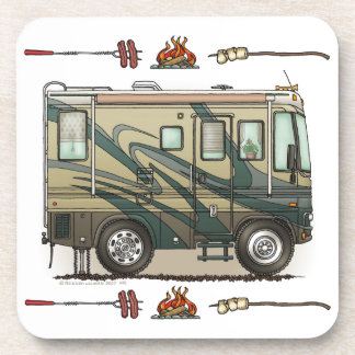 Cute Happy Camper Big RV Coach Motorhome Coaster
