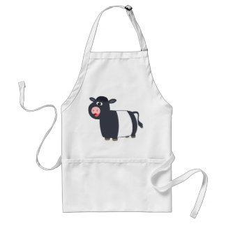 Cute Happy Cartoon Belted Galloway Cow Apron