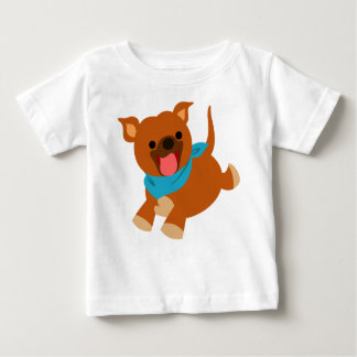 Cute Happy Cartoon Staffie Baby T-Shirt