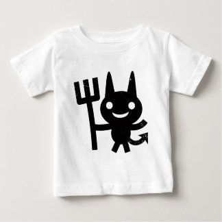 Cute Happy Devil with Pitchfork Baby T-Shirt