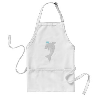Cute Happy Dolphin Adult Apron