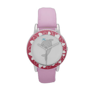 Cute Happy Dolphin Wristwatches