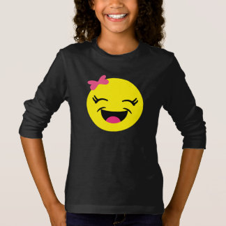 Cute & Happy Emoji Girl T-Shirt