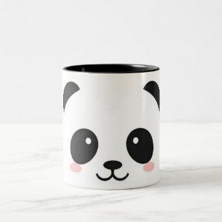 Cute Happy Face Panda Two-Tone Coffee Mug