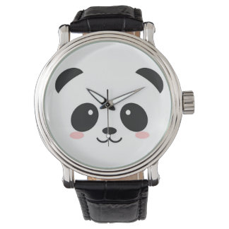 Cute Happy Face Panda Watch