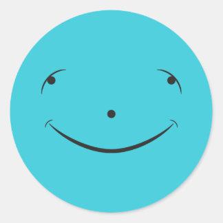 Cute Happy Face Round Sticker