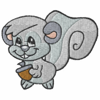 Cute Happy Grey Squirrel