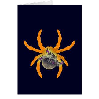 Cute Happy Halloween Spider Card