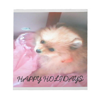 Cute Happy Holidays Pet Notepad