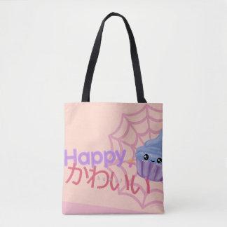 Cute Happy + Kawaii Cupcake Tote Bag