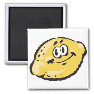 cute happy lemon refrigerator magnet
