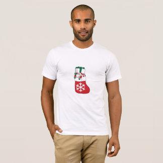 Cute Happy Little Santa Claus in the Sock T-Shirt