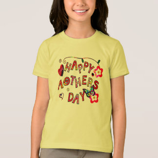 cute happy mothers day kids shirt design gift-idea