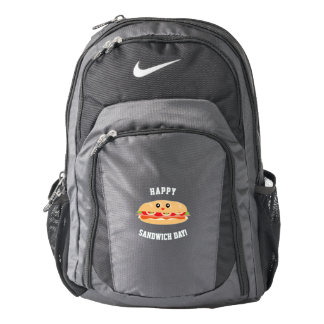 Cute Happy National Sandwich Day Funny Foodie Backpack