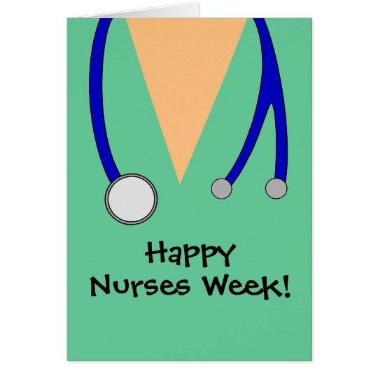 Cute Happy Nurses Week Scrubs Thank You Card