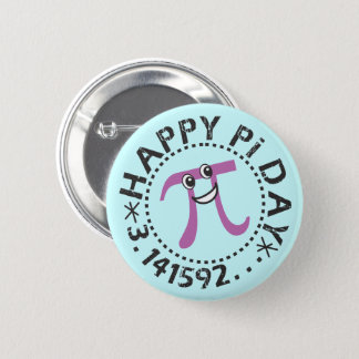 Cute Happy Pi Day Button