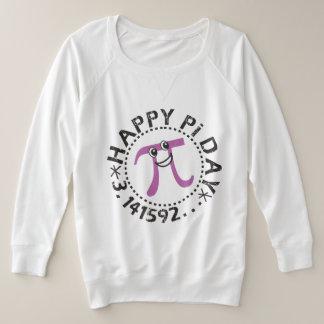 Cute Happy Pi Day © Pi Symbol Plus Size Sweatshirt