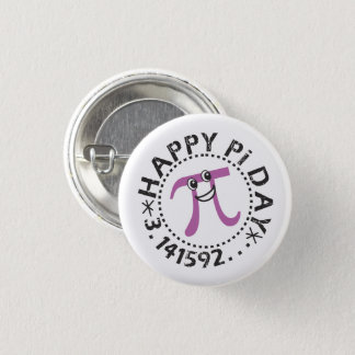 Cute Happy Pi Day © - Wearable Pi Day Gift 3 Cm Round Badge
