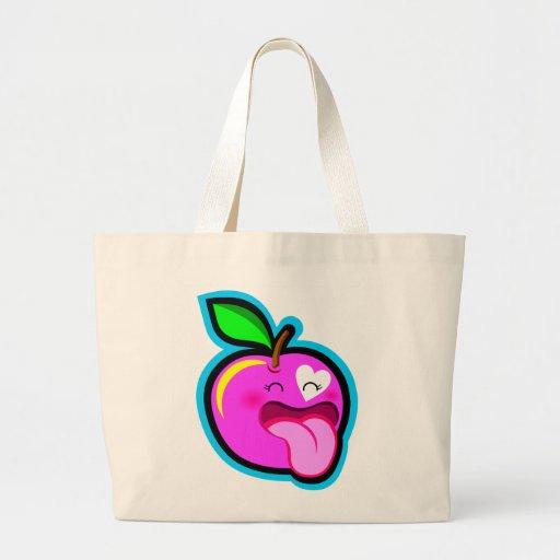Cute happy pink apple bag