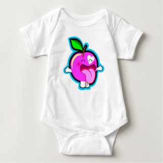 Cute happy pink apple for baby tshirts