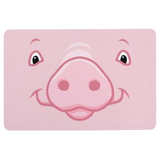 Cute Happy Pink Pig Face Floor Mat