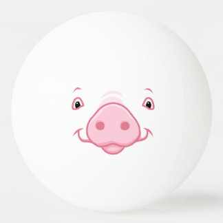 Cute Happy Pink Pig Face Ping Pong Ball