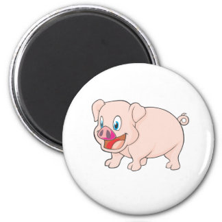 Cute Happy Pink Pork Pig Refrigerator Magnets