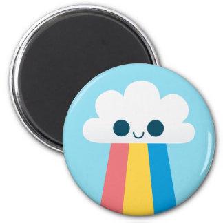 Cute Happy Rainbow Cloud Fridge Magnet