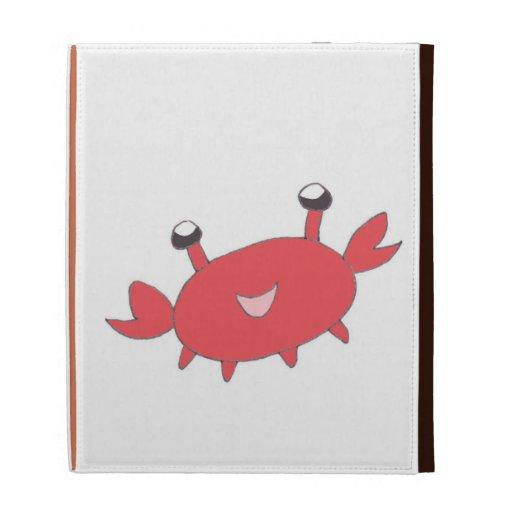 Cute Happy Red Crab iPad Folio Covers