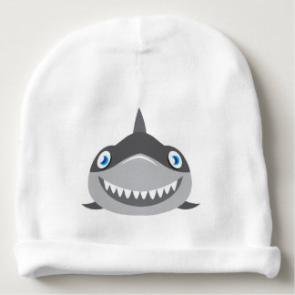 cute happy shark face baby beanie