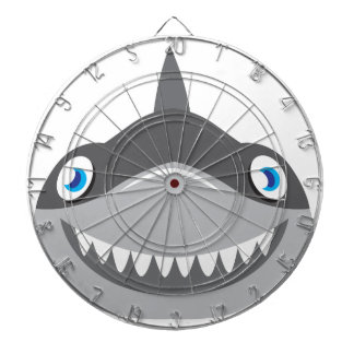 cute happy shark face dartboard